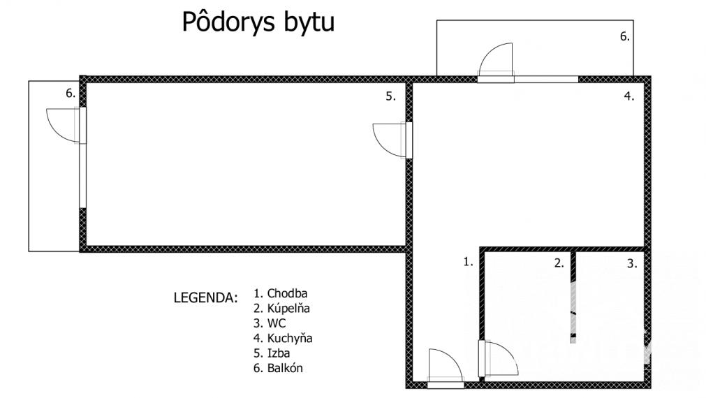 Rezervované - NA PRENÁJOM Veľký 1-izbový byt na Nábrežnej ulici v meste Nové Zámky